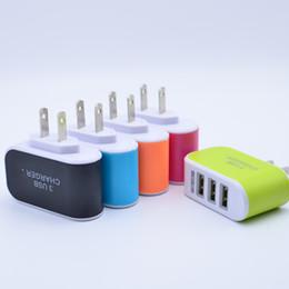 Şeker Renkli LED Hızlı Şarj Üçlü 3 USB Portu Duvar Ev Seyahat AC Güç Şarj Adaptörü 3.1A AB / ABD Plug nereden hızlı şarj fişi tedarikçiler