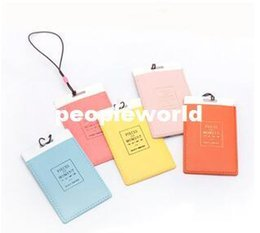Wholesale Wholesale Leather Luggage Tags - Leather Luggage Tags Travel Paper Suitcase Tag Carrying case Tag Packet Label Wrap Easily recognizable Bag Parts With The lanyard