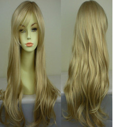 Wholesale Wigs Shipping Europe - Europe and America Fashion Girls Face Fresh and Lovely Long Curly Wig Hair  Lot Drop Shipping
