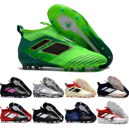 Wholesale Spiked Shoes For Cheap - 2017 Cheap Wholesale ACE 17+ Purecontrol FG Primeknit 2017 Men's Soccer Shoes For Sale Slip-On Cheap Performance Cleats Football Sneakers