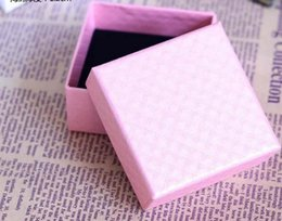 Wholesale Bracelet Box Pink - Wholesale Exquisite High-Quality Mini Pink Paper Boxes Gift Box 7.3*7.3*3.5 Fit Pandora Style Jewelry Charm Bracelet Gift Packaging Box