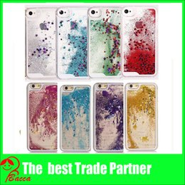 Wholesale Iphone Sparkle Cases - For s6 Luxury Bling Sparkle Glitter Star Transparent Hard Case Cover for iPhone 5 6 Plus 6s 6s plus
