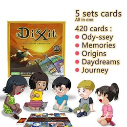 Wholesale Journey Toys - Cards Game Dixit English Board Game Gather 420 Cards Odassey  Origins  Journey  Daydreams  Memories Gift Box Jogo Juego