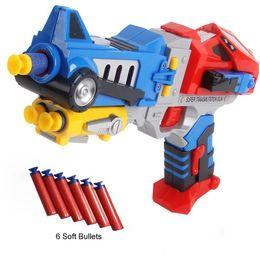 Wholesale Dart Rifles - Transform Nerf Sniper Dart Blasters Guns Robots Model With 6 Soft Bullets Plastic Mega Pistolas N strike Kids Rifle Hot Sale Toy