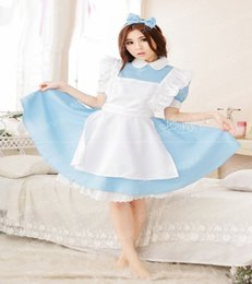 Wholesale Princess Dresses For Adults - Halloween Maid Costumes Womens Adult Alice in Wonderland Costume Suit Maids Lolita Fancy Dress Cosplay role-playing for Women