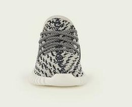 Wholesale Turtle Cushion - New kids shoes 350 Boost kanye west shoes Pirate Black and Turtle Dove with Boost Cushioning System Infant child toddlers boys girls size