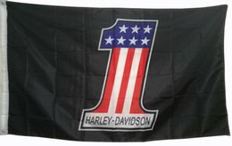 Wholesale Usa Club - Number 1 USA Flag for Harley Motorcycle Club Decorative Flag Bannerwith 2 Grommest