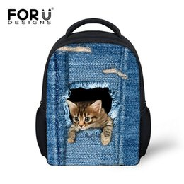 Wholesale Canvas Book Bags For Women - Fashion Children School bags Backpacks Cute 3D Animal Cat Schoolbag for Girls Casual Kids Women Shoulder School Book bag Mochila Escolar