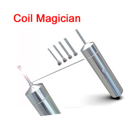 Wholesale Pole Electrical - Clone PilotVape Coil Magician Electrical Coil Jig Tool Heat Wire Rolling Automatically Coil Jig for RDA RTA with 4 coiling poles DHL FJ706