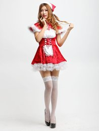Wholesale sexy little red riding - Halloween Little Red Riding Hood Costume Sexy Ladies Cosplay Lingerie Women Halloween Costumes For women