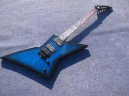 Wholesale Blue Burst Custom Guitar - New Brand Custom Electric Guitar explore shape Guitar blue black burst Color