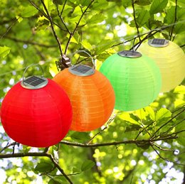 Wholesale Wedding Hanging Lanterns Wholesale - Solar Lantern Lights Christmas Light Solar Powered Chinese Lanterns Garden Light Wedding Holiday Waterproof Laterns Outdoor Hanging Lights