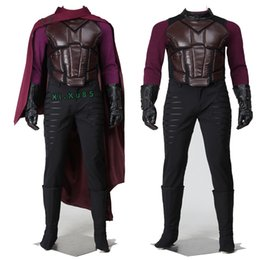 Wholesale Costumes Future - Halloween HOT Movie Character Chrismas X-Men Days of Future Past Cosplay Magneto Erik Lehnsherr Cosplay Costume Outfit