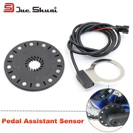 Wholesale Electric Bicycle Bike Motor Kit - Wholesale-Electric Bicycle Pedal Assist Sensor 12 Magnets Connect Motor Assemble PAS E-Bike Conversion Kit Parts Crank Other Accessory