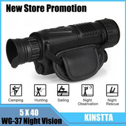 Wholesale Ccd Zoom Camera - KINSTTA Infrared Digital Night Vision Monocular Scope 5x40 For 200Meter,Zoom 5X , IR, 5MP Digital Camera Video In CCD For CSgame