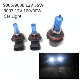 Wholesale Hid Lamps - 2pcs 12V 100 90W 9007 55W 9005 9006 Ultra-white Xenon HID Halogen Auto Car Headlights Bulbs Lamp Auto Parts Car Light Source Accessories