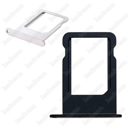 Wholesale Iphone Black Sim Card Tray - 200PCS OEM Micro SIM Card Tray Holder black and sliver for iPhone 5 5s free shipping