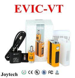 Wholesale Ecig Mega - Joyetech Evic VT Kit 60W Ecig Temperature Control Box Mod Vaporizer Starter Full Kits With 5000mAh 4ml Battery Ego One Mega mini Atomizer