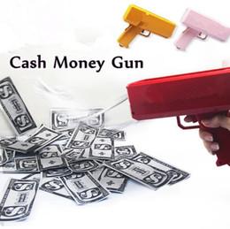 Wholesale Retail Marketing - Money Gun Cash Money Gun Make It Rain Making A Cash Rain Money Toy Gun Suitable for Weddings Birthdays Marketing Party CCA7561 48pcs