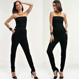 eb58388463b0e 2016 new Skinny Solid Casual Full Length Natural Color women jumpsuits and  rompers bodysuit playsuit Black sexy summer sleeveless jumpsuits