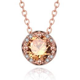 Wholesale Fast Shop Shopping - New Design High Quality Rose Gold Zircon Pendant Necklace, Fashion Necklace Pendants, Fast Delivery and Free shopping
