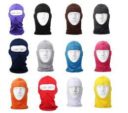 Wholesale Lycra Mask Wholesale - Classic Lycra cycling Face Mask CS Sports Football Balaclava Helmet colorful bicycle full face mask free shipping