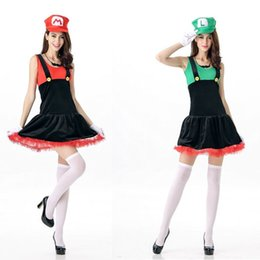 Wholesale Japanese Women Uniform - Super Mary Halloween anime role playing Mario COS nightclubs uniform temptation appeal performance clothing