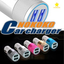 Wholesale Ipad Iphone Charging - Dual USB Port Car Charger Universal 2 USB Fast Charging Adapter 2.1A for iPhone iPad Samsung