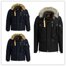 Wholesale Winter Hoodies Duck Down - 2017 Hot Sale men's parajumpers right hand down Jacket Hoodies Fur Fashionable Winter Coats Warm Parka Free shipping