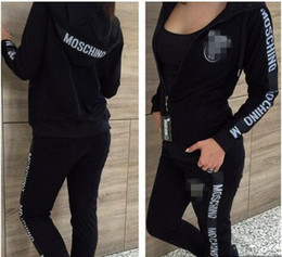 Wholesale Button Up Pants - Fashion Women's Sport Suit Sweatshirts Letter Print Tracksuit Long-sleeve Casual Sport Costumes Mujer Crop Top And Pants Set