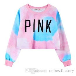 Wholesale Ladies Hoodie Fleece Jackets - 2016 New Autumn Winter Womens Pink Fleece Hoodies Sweatshirts Fashion Slim Harajuku Ladies Bomber Jacket Clothes Sweatshirt Crop Tops WY0029