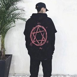 Wholesale Korean Lanterns - 2017 new false two hooded Korean teenagers sports hooded sweater coat male stars loose