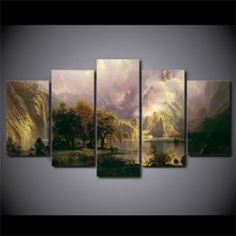 Wholesale One Piece Oil Painting - Landscape Sight,5 Pieces Home Decor HD Printed Modern Art Painting on Canvas (Unframed Framed)