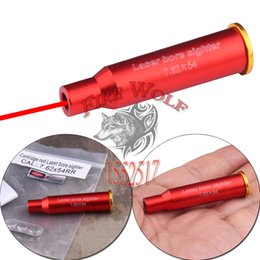 Wholesale Bullet Laser - 2016 NEW Free Shipping 7.62x54R Red Laser Bullet Shaped Bore Sighter Cartridge Aluminium Boresighter for gun laser