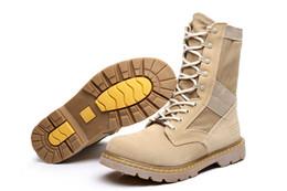 лучшие охотничьи сапоги Скидка Лучшее качество мужчины военные тактические сапоги, мужская открытый охота пустыни мотоцикл армии боевые сапоги обувь осень замша ботильоны