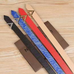 Wholesale Designer Beaded Tops - Women Genuine Leather Belt Top Quality Designer V Cowhide Strap Fashion Genuine Leather Woman Belt Casual Luxury Belts For Women