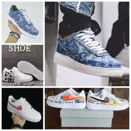 Wholesale Wide White Lace - Off White x Air Shoes Vlone 1 Pauly Colorways Comme Des Garcon Top quality Low Men Womens Skateboarding Shoes
