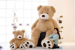 Wholesale Large Stuffed Bears - Stuffed Teddy Bears with big footprints plush animal toys 39 52 63 79 102inch huge large cute light brown teddy bear 100CM costume
