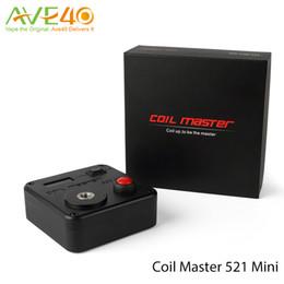 Wholesale Master Diy - Coil Master 521 Tab Mini Vape Tool Kit Part of CoilMaster DIY V3 Vape Kit 100% Original