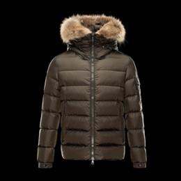 Wholesale Real Fur Coats Men - Top Brand Men Down jacket Real fur collar coat Bomber Zipper Mans Coat Windbreaker Plus size Men's Clothes