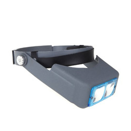Wholesale Reading Magnifiers - Wholesale-Best Selling 1.5X 2X 2.5X 3.5X Double Lens Head-mounted Headband Reading Magnifier Loupe Head Wearing 4 Magnifications