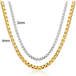Wholesale 925 Mens Bracelet - High Quality Unisex 3mm & 4mm Gold Chains 18k Real Gold 925 Silver Chains Basic Mens Hip Hop Jewelries YDHX212