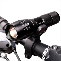 Wholesale Bike Light Flashlight - Professional Waterproof CREE XM-L T6 3800LM Bicycle Light Torch Zoomable LED Flashlight Bike Light With Torch Holder