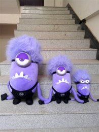 Wholesale Despicable Minion Plush 3d - 171217 Despicable me 2 Purple Evil Minions Dave Stuart Tim Mark 3D Plush doll toy Christmas Gift For Children kids