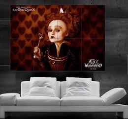 Алиса в Стране Чудес, Королева Сердец плакат печати искусства гигантский огромный 8 частей бесплатная доставка NO125 от Поставщики полосатые обои металлические