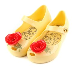 Wholesale Jelly Sandals Flower - beauty and the beast belle jelly sandals girls princess sandals shoes rose Tea Teapot Children Shoes Sandals Mini shoes for kids children