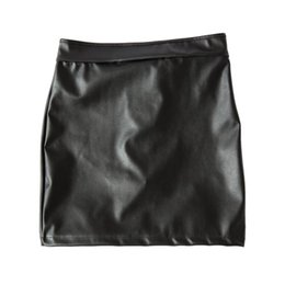 Wholesale Spank Dress - Womens Sex Fetish Spanking Dress Stretch to Fit PVC Leather Open Buttocks Mini Dress with Locking Panties