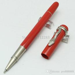 Wholesale Unique Fountain Pens - New unique pen size Heritage Collection Rouge et Noir Ballpoint Pens   Fountain Pens Special Edition Mon black rolllerball pen Snake clip