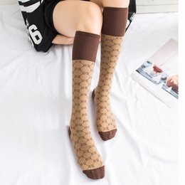 Wholesale High Fashion Knitting - Fashion Women Socks White Coffee Color Adult Stockings High Quality cotton letter pattern Socks