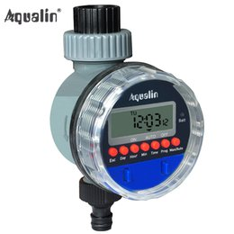 water timer garden irrigation controller Promo Codes - irrigation Automatic Electronic LCD Display Home Ball Valve Water Garden Watering Timer Irrigation Controller System #21026